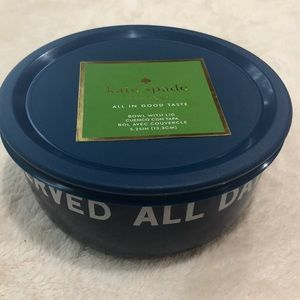 Kate Spade♠️All In Good Taste On The Go Bowl w/lid